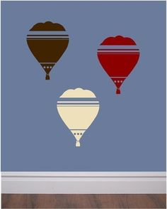 Hot air balloon vinyl stickers