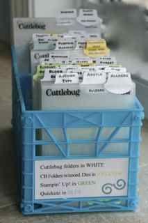 Embossing Folder Storage by splicedcenterstamp - Cards and Paper Crafts at Splitcoaststampers