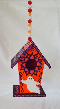 Mini Size Birdhouse Halloween Decoration Ghosts by SingingTrees, $15.00