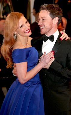 Jessica Chastain and James McAvoy demonstrate elegant Hollywood glamour at Cannes.