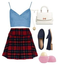 """Simple but cute 💖"" by nathalia-aline on Polyvore featuring moda, Pinko, Ted Baker, Gap, Givenchy e Eos"
