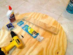 DIY Wood Slice Mirror - Hanger