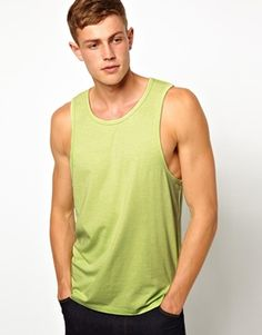 Image 1 of ASOS Tank With Bound Edge
