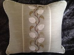 Zoffany Broidery Trail Cushion Cover by SoSoInteriors on Etsy
