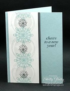 Quick and easy to make New Year made with Stampin' Up! Cheers to the Year Stamp Set. Stampin' Up! Cheers to the Year card designed by Shelly Godby of www.stampingsmiles.com