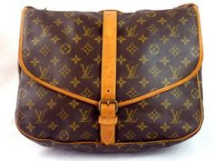Louis Vuitton Saumer 35 Brown Messenger Bag $589