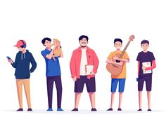 😎 We are strong aliens by Farhan Fauzan for Lifu on Dribbble Flat Design Illustration, People Illustration, Character Illustration, Digital Illustration, Graphic Illustration, Manga Illustration, Art Illustrations, Graphic Art, 2d Character