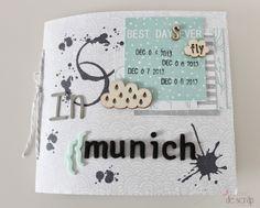 La Mar de Scrap: Tutorial mini álbum Munich