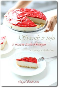 Sernik z tofu! Cheesecake Recipes, Dessert Recipes, Vegan Cheesecake, Tofu, Matcha, Sweet Recipes, Veggies, Gluten Free, Favorite Recipes