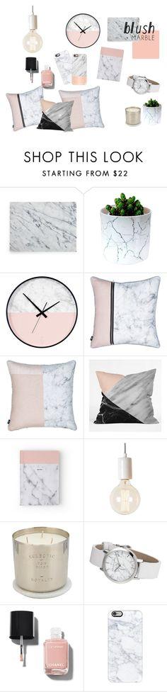 """Dab of blush"" by oliviamarega on Polyvore featuring interior, interiors, interior design, home, home decor, interior decorating, Heal's, Tom Dixon, Chanel and Casetify"