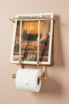 chic magazine + toilet paper holder