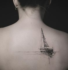 Boat back tattoo - 100 Boat Tattoo Designs <3 <3