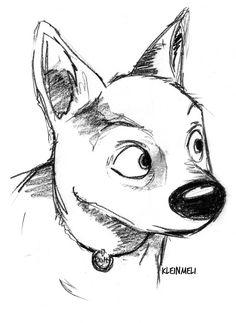 The new Disney movie is adorable. Disney Sketches, Disney Drawings, Cartoon Drawings, Bolt Disney, Disney Art, Easy Drawings Sketches, Cool Art Drawings, Disney Character Drawings, Drawings Pinterest