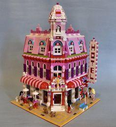 Lego Friends: Lovely Hotel, A Wonderful Cafe Corner (10182) Mod. Reminds me of cityville game