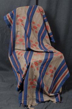 Hand woven cotton boho throw fabric blanket by WaterAirIndustry