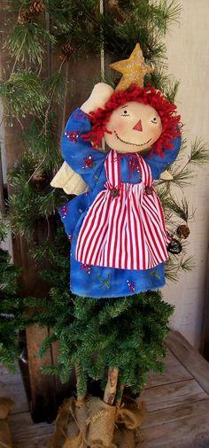 PriMiTiVe Raggedy Ann Angel Christmas Tree by VintageKeepsakeTrunk, $30.00
