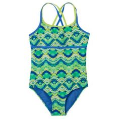 Girls 7-16 Free Country Double-Strand One-Piece Swimsuit