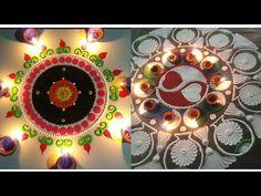 3 Diwali Special Rangoli Designs | Satisfying Rangoli Art | Relaxing Rangoli Video | Diwali Designs - YouTube Colour Rangoli, Sanskar Bharti Rangoli Designs, Diwali Special Rangoli Design, Rangoli Designs For Competition, New Year Special, Valentine Special, Video, 3, Heart Shapes