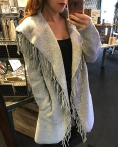 """New shipment just and and I couldn't wait to throw this on! """"Belle"""" fringe sweater ($72)  Gotta  FREE SHIPPING! Call 440.893.9279 or email sales@sanitystyle.com to order or shop instore!  #sanitystyle #sanitychagrinfalls #shoplocal #chagrinfalls #shopchagrinfalls #boutique #freeshipping #cleveland #clevelandfashion #clevelandstyle #style #shop #cle #thisiscle #love #selloninsta #instasale #fashionpost #beautiful #picoftheday #shopping #shopaholic #fall #fallfashion  #retailtherapy"""