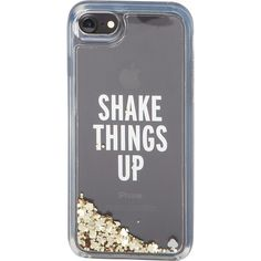 kate spade Shake Things Up iPhone 7 Case - Clear Multi - Phone Cases found on Polyvore featuring accessories, tech accessories, clear multi and kate spade