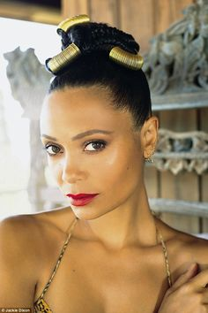 Thandie Newton: I'm stripping on TV to empower my two daughters Young Actresses, British Actresses, Thandie Newton, Eyebrow Pencil, African Women, African Hair, Pretty Woman, Eyebrows, Sculpting