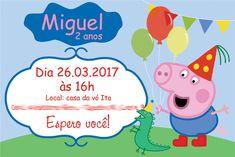 Convite + tag George Pig   Peppa - digital