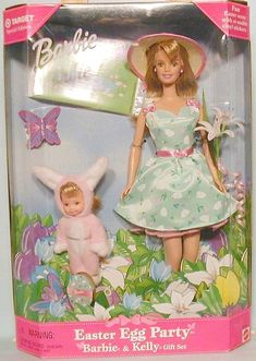 Easter Egg Party Barbie & Kelly gift set