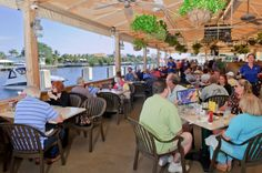 Two Georges waterfront dining in Deerfield Beach, Florida. Enjoy casual dining and a waterfront Tiki Bar