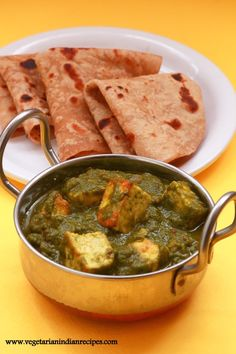 Palak paneer is a very tasty North Indian dish made with palak and paneer. The paneer pieces are cooked in palak curry along with Indian spices and ghee which enriches the taste.
