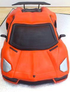 Lamborghini Aventador Birthday Cake front