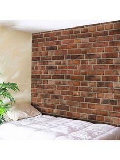 Microfiber Wall Hanging Brick Wall Pattern Tapestry