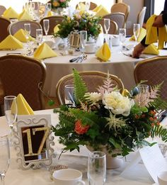 Spring Wedding Flowers - Weddings by Monday Morning Flowers Centerpiece Ideas, Floral Centerpieces, Table Decorations, Spring Wedding Flowers, Morning Flowers, Monday Morning, Flower Ideas, Table Settings, Weddings