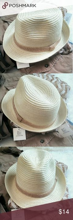 Final⬇NWT Cream Classy Fedora⬇ Cream Fedora with Rope trim completes any style! Bad hair days, rainy days or just stepping out in style days, don't be caught without yours! ;) Accessories Hats