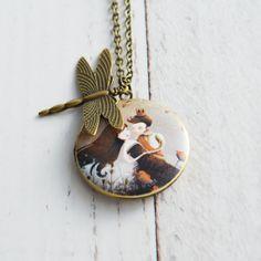 bronzen halsketting met medaillon