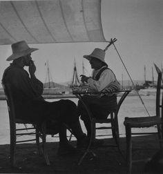 Sunday morning coffee on Naxos island in 50's!!! Good morning everybody! [Naxos island, 1950-55. Photo by Voula Papaioannou. Benaki Museum Photographic Archives]