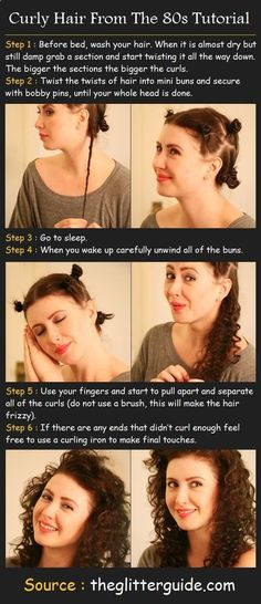 How To Curly Hair From The 80s | Fashion Darling