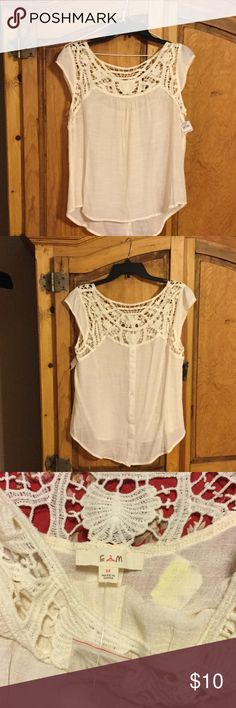 Crocheted top NWT Vintage looking blouse. Never been worn. It's a medium, but may fit a large. Meant to be roomy. E M Tops Blouses