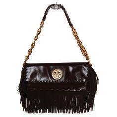 Couture Accessories, Fringe Bags, Designer Handbags, Tory Burch, Shoulder Bag, Purses, Detail, Brown, Fashion