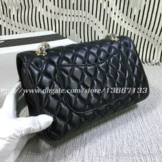 543297d238e3 Good Price fashion design Shoulder Bag Genuine Lambskin Leather Double  Flaps Bags Medium Women Chain Bag Handbags 1112. DHgate.com