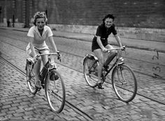 Vintage cycling.....don't they look great in their rompers