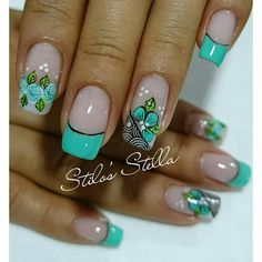 Cute Nail Art Designs, Nail Polish Designs, Love Nails, Pretty Nails, Pedicure Nails, Diy Nails, Fingernails Painted, Nail Art Techniques, Fabulous Nails