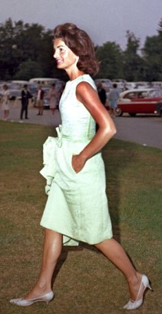 Former First Lady Jacqueline Kennedy enjoys herself at a picnic circa the 1960s.