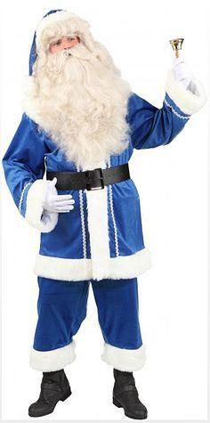 Joulupukin asu sininen