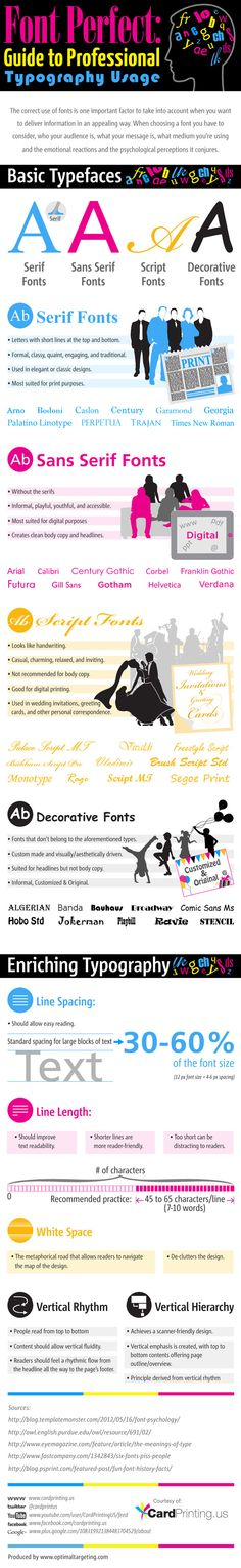 Font perfect: guide to professional #Typography usage - #Design