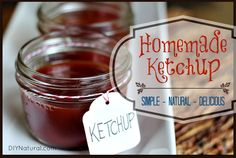Making delicious homemade ketchup is easier than you might think. Here's a recipe that is simple and natural, yet very, very delicious. We dare you to try it!