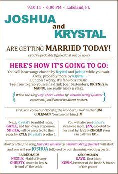 10 Creative Wedding Program Ideas - Fantabulously Frugal in NYC ...
