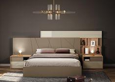 Quarto de Casal Midle Modern Luxury Bedroom, Luxury Bedroom Design, Room Design Bedroom, Modern Bedroom Furniture, Home Room Design, Bed Furniture, Luxurious Bedrooms, Bed Back Design, Modern Bed Designs