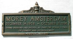 """Morey Amsterdam (1908 - 1996) Played Buddy on the TV series """"The Dick Van Dyke Show"""""""