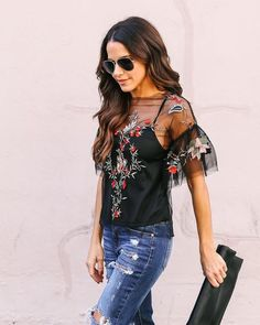 Overjoyed Embroidered Top