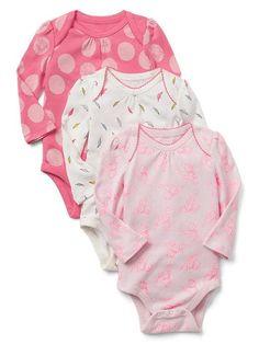 babyGap|Disney Baby Dumbo Picot Trum Bodysuit 3-pack ($39.95)